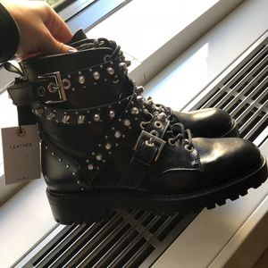 Zara Black Boots - brand new with tags